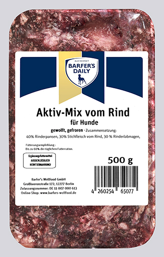 Aktiv-Mix, gewolft, 500 g