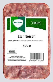 Elchfleisch, gewolft 500g