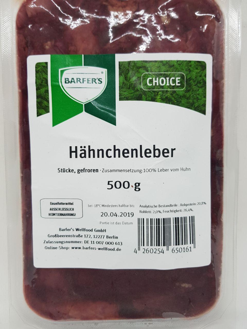 Hähnchenleber, Stücke 500g