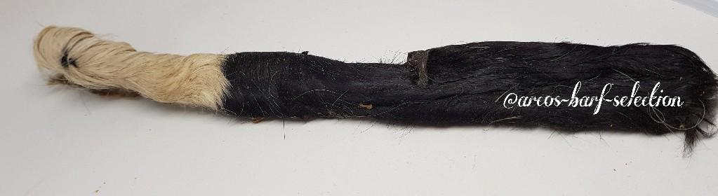 Rinder-Kopfhaut-Stangen mit Fell, ca 35 cm