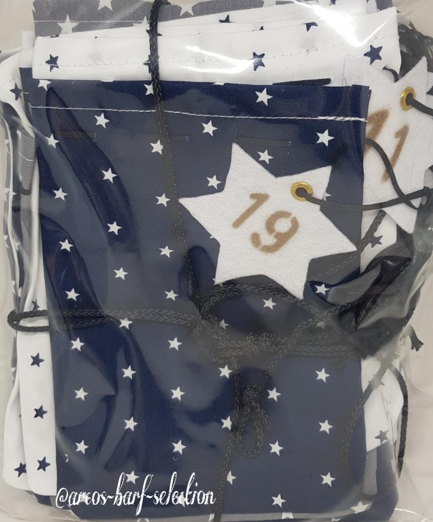 """Hunde-Adventskalender (Design """"White Star""""), leer"""