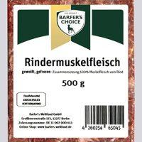 Rinder-Muskelfleisch, gewolft, 500 g