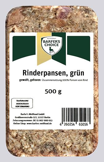 Rinderpansen grün, gewolft, 500 g