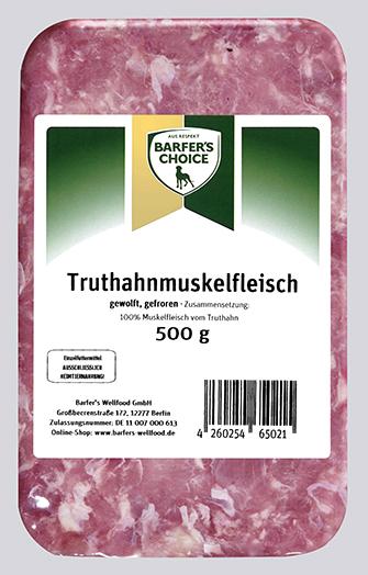 Truthahnmuskelfleisch, gewolft, 500 g